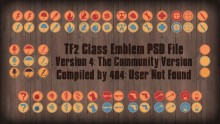 [PSD] TF2 Class Emblems v4 preview