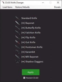 CS:GO Knife Changer Tool preview