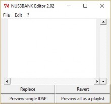 NUS3BANK Editor preview