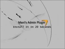 How to install new Mani Admin Plugin in 20 Seconds