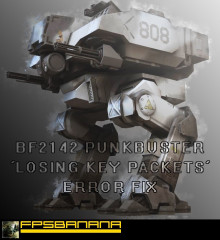 BF2142 Punkbuster 'packets' error fix