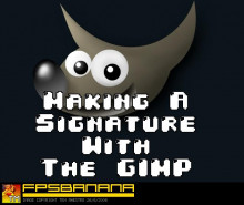 Creating a signature with GIMP