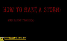 How to make a storm