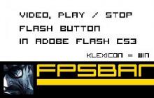Video, Play / Stop flash button in Adobe Flash CS3