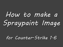 How to make a Spraypaint Image