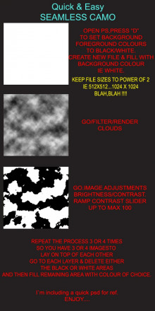 QUICK & EASY SEAMLESS CAMO