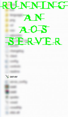 Running an AoS server.