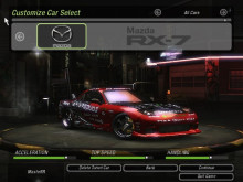 NFS:U2 Building Pro Street Drift King RX7