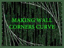 Making wall corners curve (Texture align included)