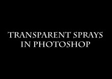 Creating a Transparent Spray in Photoshop