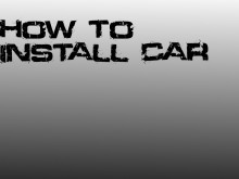 How to install car