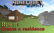 How to make a residence [Bukkit plugin: Residence]