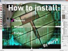 How to install: materials, models and prefabs.