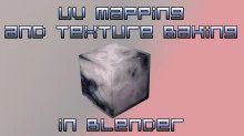 UV mapping and texture baking in Blender