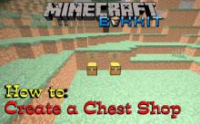 How to make a shop [Bukkit plugin: Chest Shop]