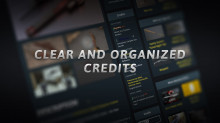 Clear and Organized Credits