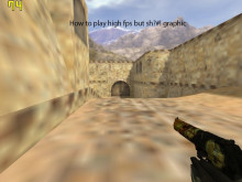 How to play high fps but sh?#! graphic