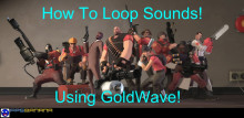 How to add cues/make a sound loop using GoldWave