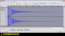 Creating the distant sound effect