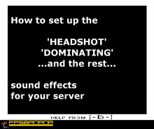 How to turn on quake sounds