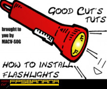 Installing flashlights