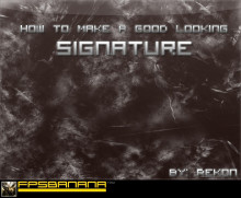 How to make an easy forum signature
