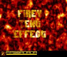 Firey Text