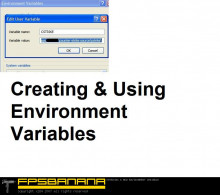 Creating & Using Environment Variables