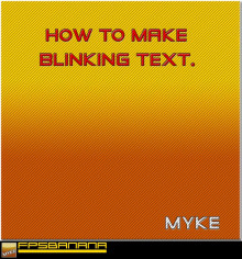 How To Make Blinking Text