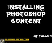 Installing Photoshop Content