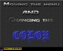 GUI's: Moving the menu/changing the color