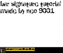Bar Signature