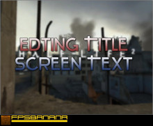 Editing Title Screen Text