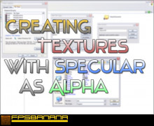 Creating textures with Specular as Alpha