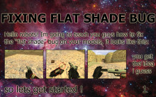 "Fixing ""flat shade"" bug"