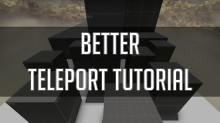 Teleport speed saver tutorial