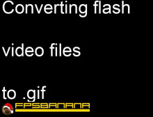 How to convert video files to .gif