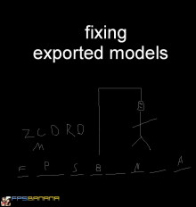 Fixing exported models