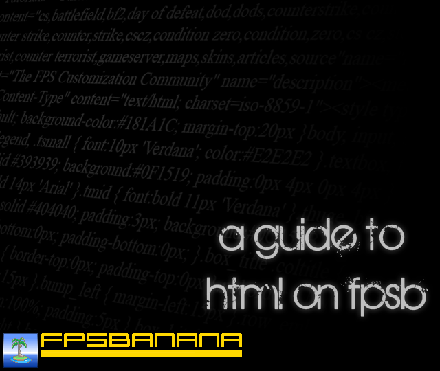 A Guide to Html on GB