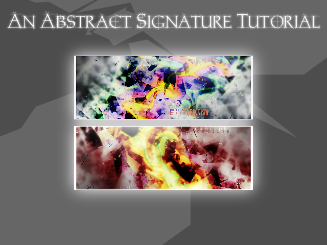 Abstract Signature Tutorial