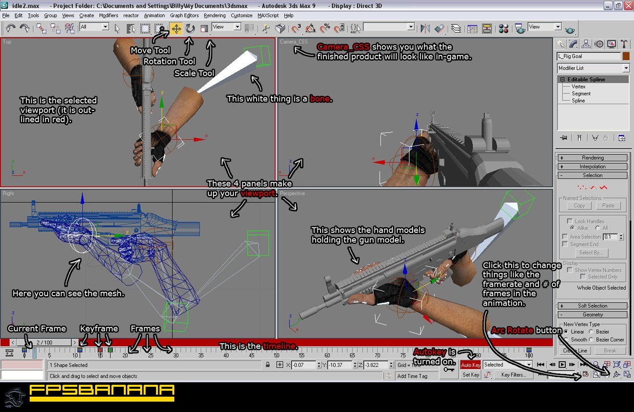 WB's Guide to the Basics of Animating in 3DSMax Tutorial screenshot