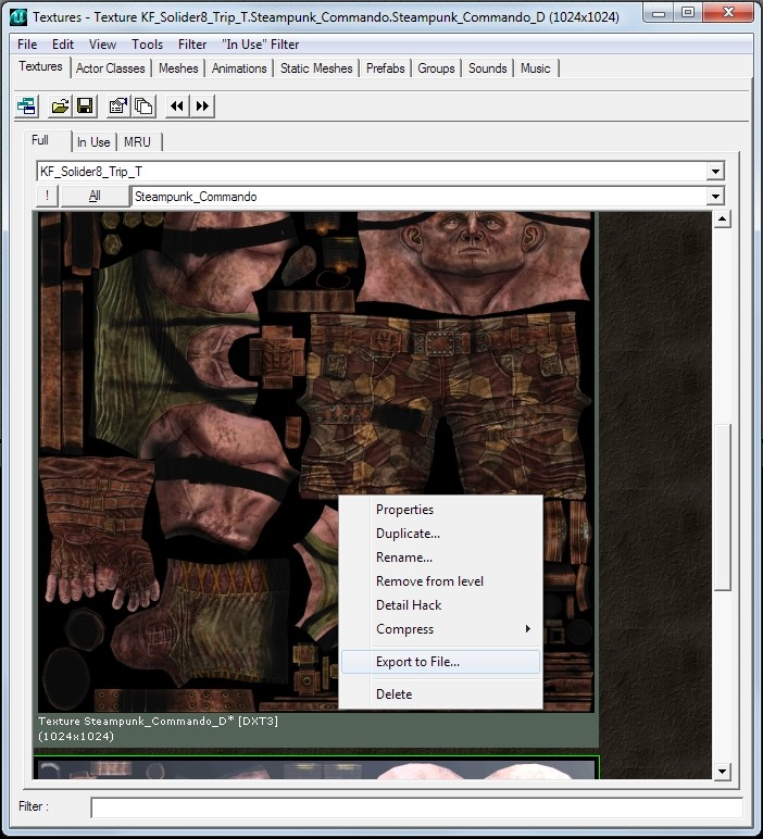 Killing floor skinning tutorial Tutorial screenshot #1