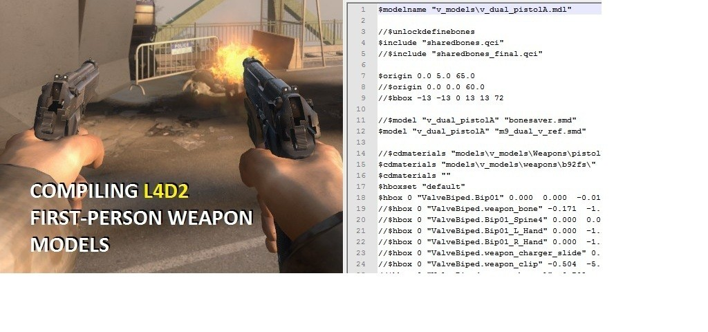 Compiling L4D2 First-Person Weapon Models Tutorial screenshot