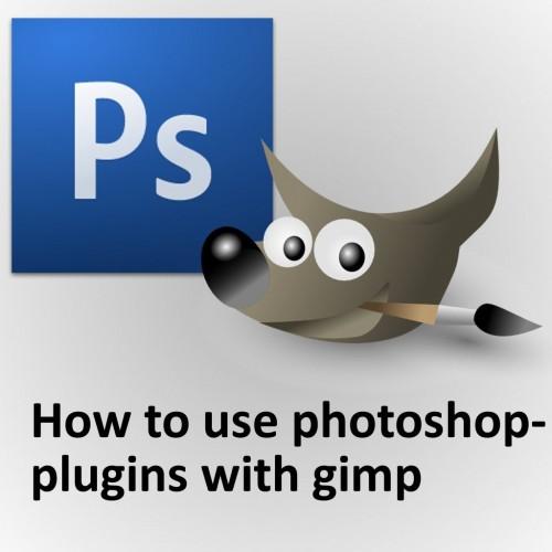 How to use photoshop-plugins with GIMP Tutorial screenshot #1