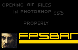 Opening A .GIF File in Photoshop