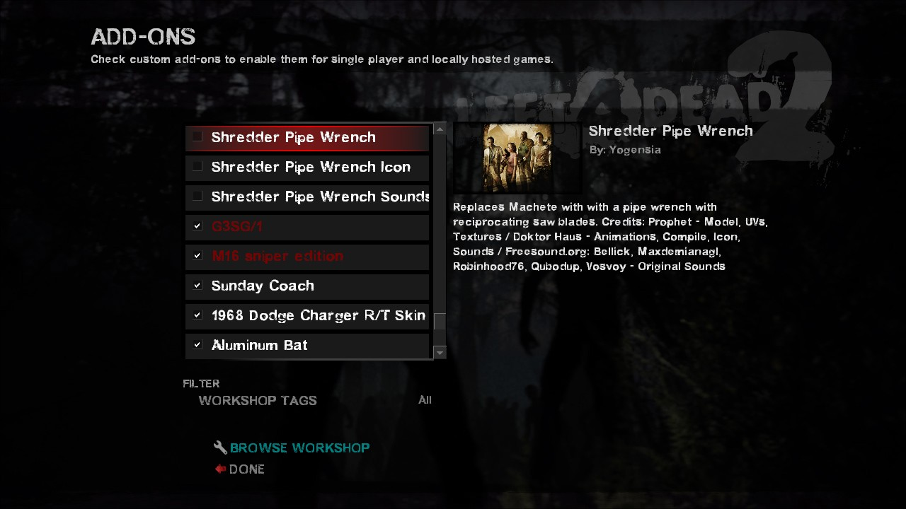 left 4 dead 2 non steam addons