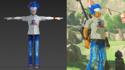 Custom Models and Textures for BOTW