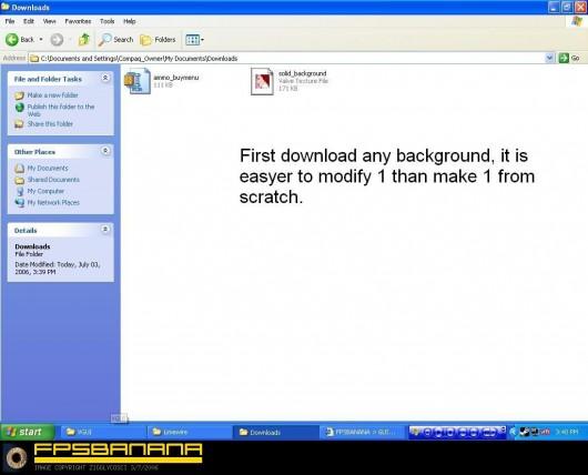 Create a buy menu background