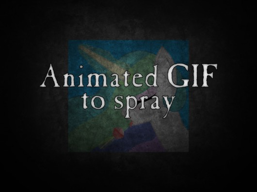 Animated GIF to Spray