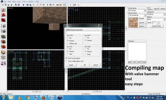 How to compile the maps using valve hammer tool